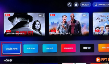 Cách dùng ứng dụng FPT Play trên Smart TV của Sony